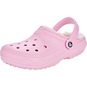 Crocs Classic Lined Clogs Women Pink/Oatmeal